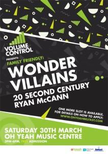volume control - wonder villains, 20 second century