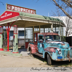 podracer parking cars and pumping gas album cover