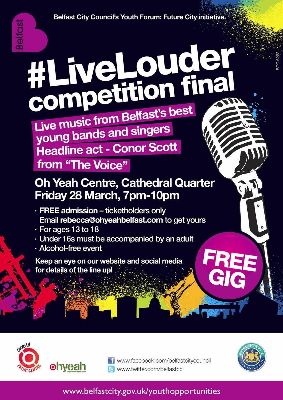 LiveLouder final poster 2014