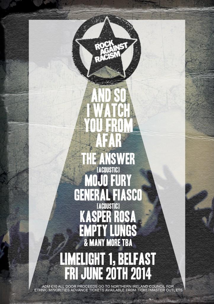 rock against racism belfast poster