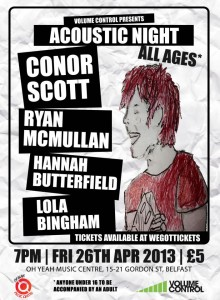 conor scott oh yeah gig poster