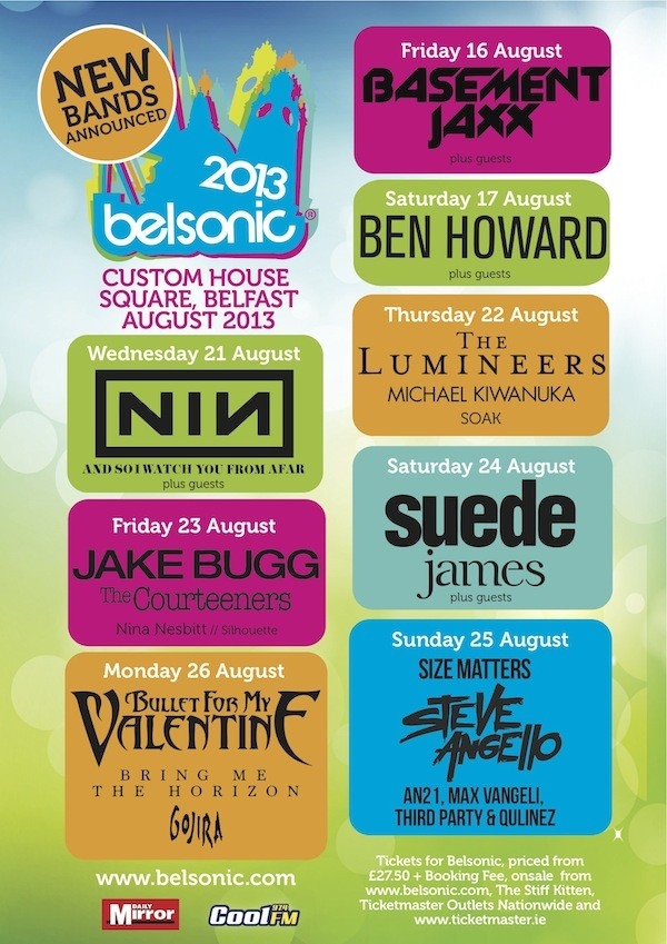 belsonic 13 line up