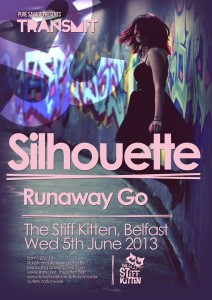 silhouette transmit gig poster